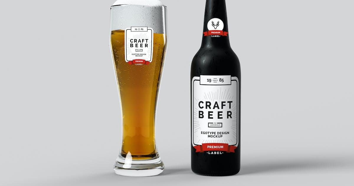 Download Beer Mock-up Black Iced by egotype