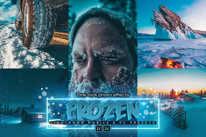 Thumbnail for Frozen Blue Lightroom Presets