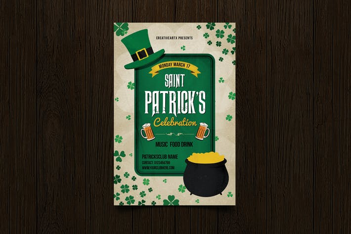 Thumbnail for Vintage St Patrick's Celebration Flyer