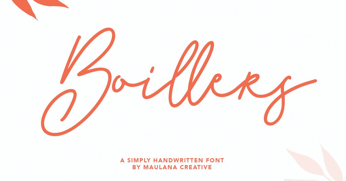 Download Boillers Simply Handwritten Font by maulanacreative