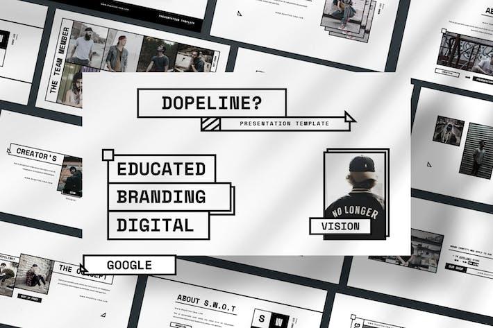 Cover Image For Dopeline Brand Google Slide Presentation