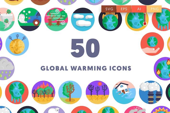 50 Global Warming Icons