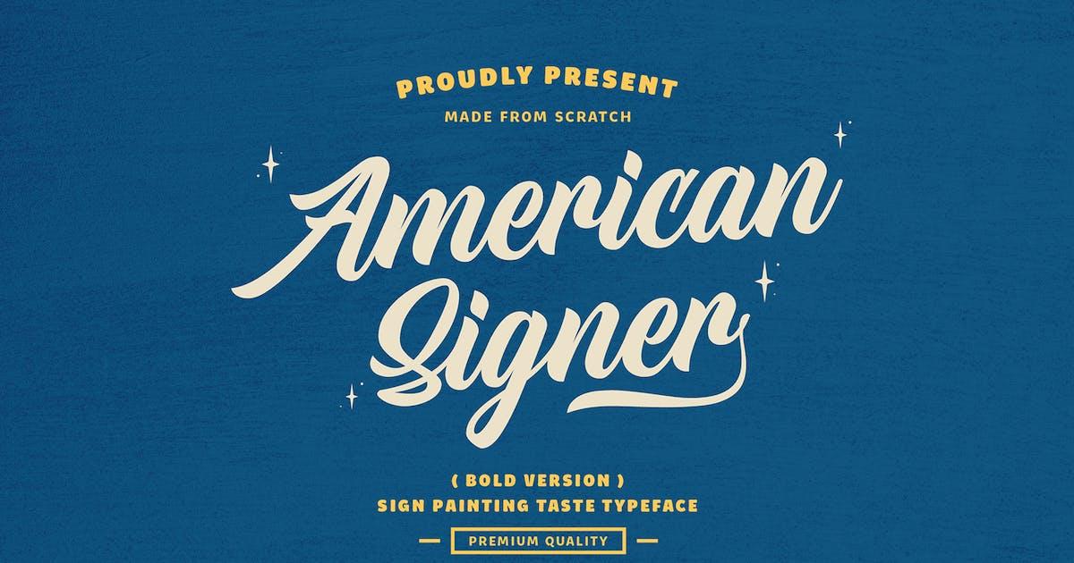 Download American Signer - Bold by DikasStudio