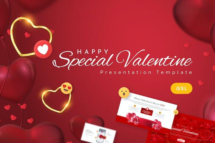 Special Valentine Google Slides Template