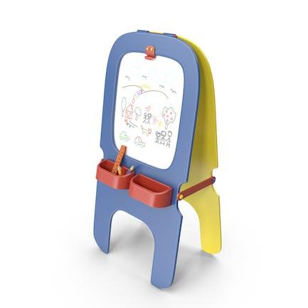 Tablero de dibujo magnético para niños