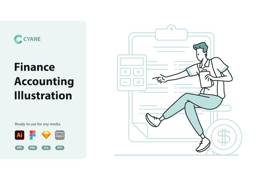 Cyane - Finance Accounting Illustration