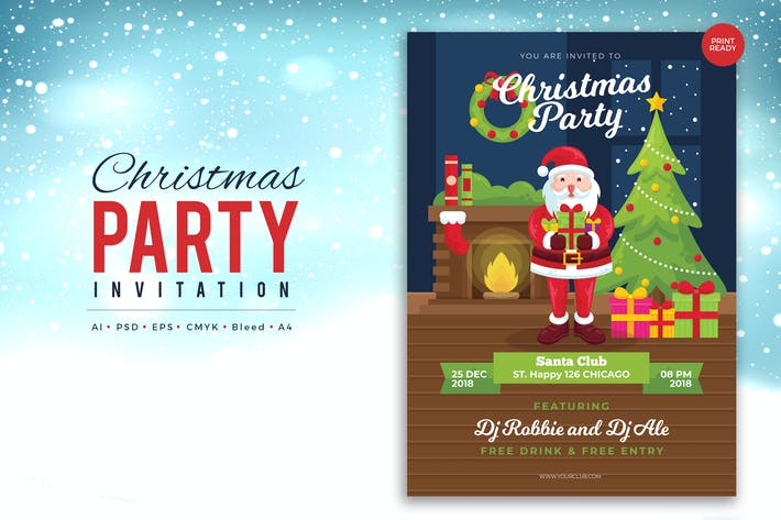 Thumbnail for Merry Christmas Event Flyer PSD and Vector Vol.3
