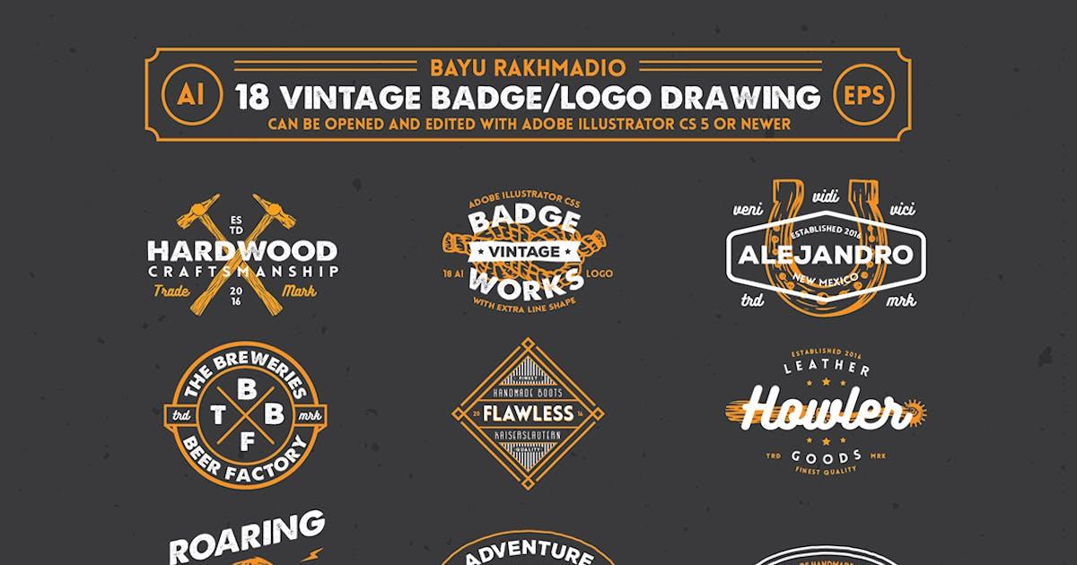 18 Hipster Vintage Badges by bayurakhmadio