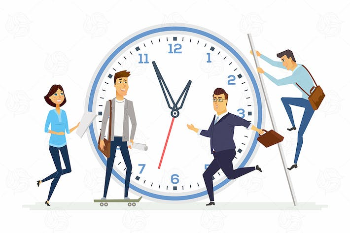 Thumbnail for Time management - modern illustration