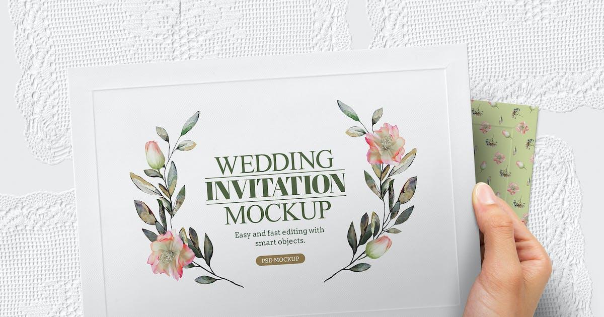 Download Hands Holding Invitation Mockup Wedding by Easybrandz-AvelinaStudio