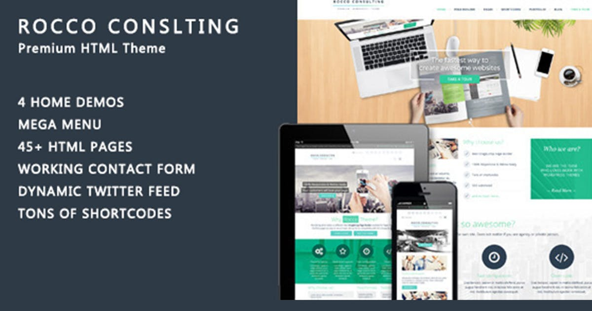 Download Rocco Flat HTML Template by max-themes