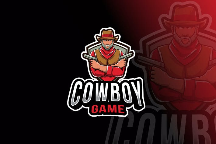 Thumbnail for Cowboy Game Logo Template