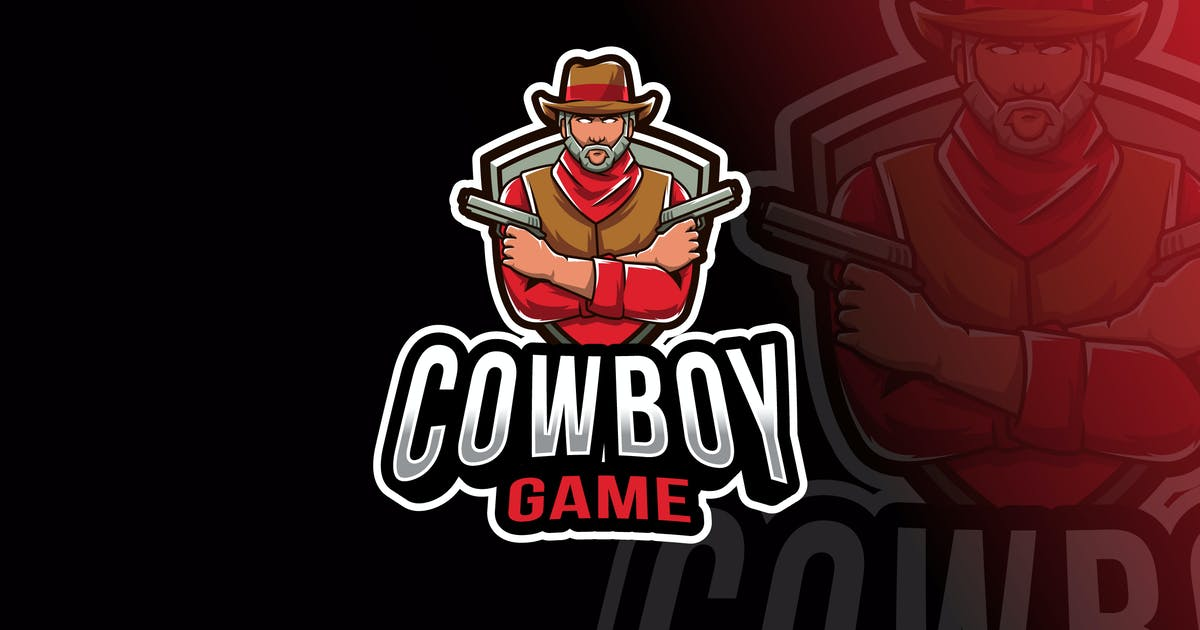 Download Cowboy Game Logo Template by IanMikraz