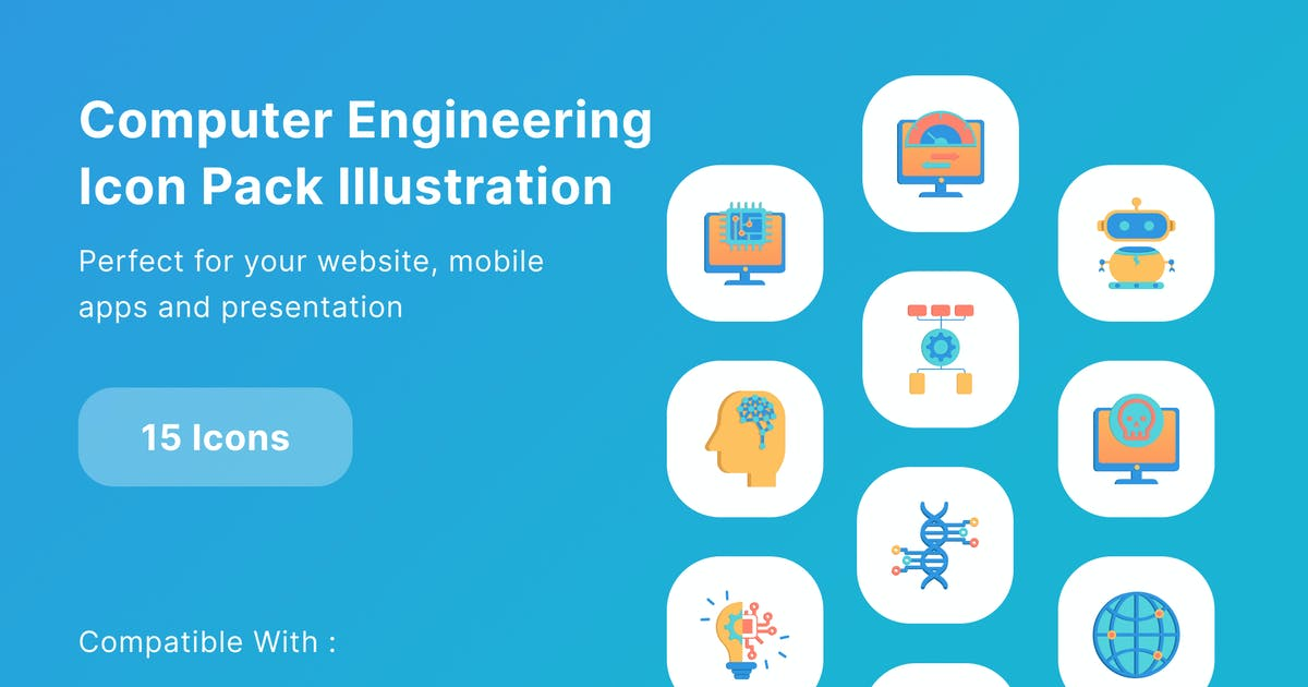 Download Computer Engineering Icon Pack Illustration by DimoGraphic