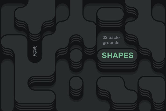 Thumbnail for Shapes | Irregular Rounded Backgrounds