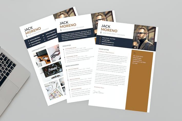 Thumbnail for Jack Developer Resume Designer