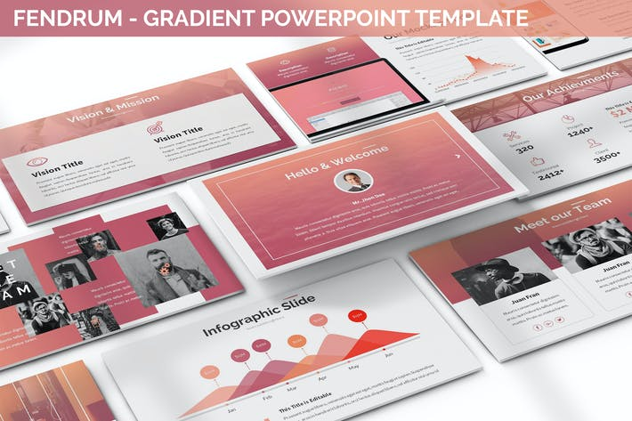 Thumbnail for Fendrum - Gradient Powerpoint Template