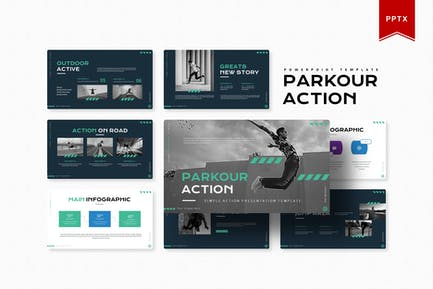 Parkour Action | Powerpoint Template