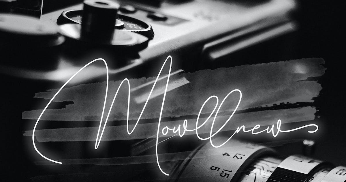 Download Mowllnew Signature Font by aldedesign