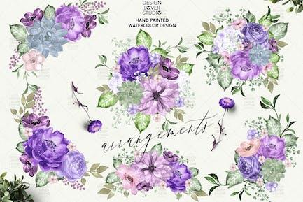 Ultra Violet floral arrangements