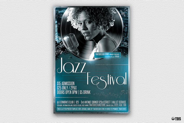Thumbnail for Jazzy Fest Flyer Vorlage V2