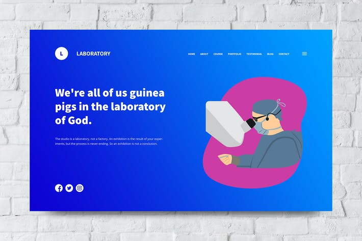 Thumbnail for Laboratory Web Header PSD and Vector Template