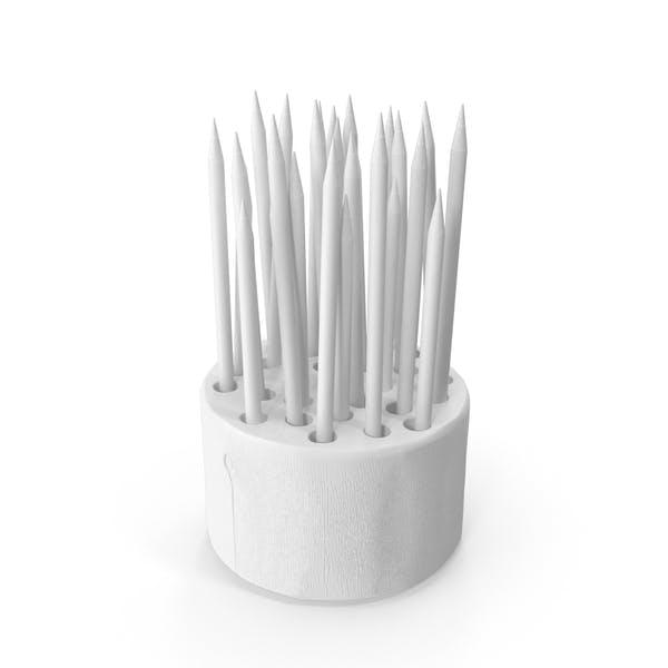Монохромный держатель карандаша для пня из дерева