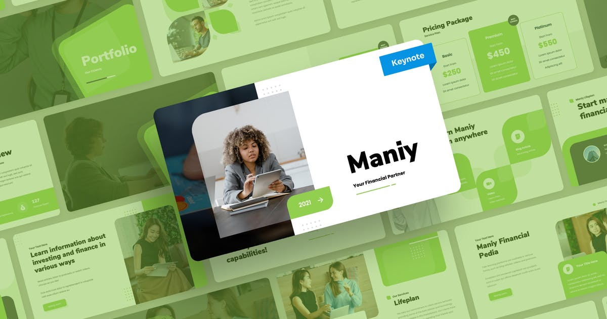 Download Maniy - Finance Keynote Presentation by mhudaaa