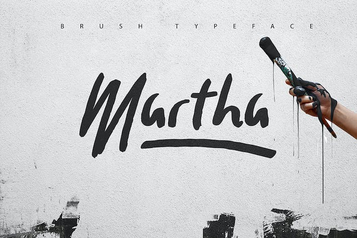 Thumbnail for Martha Brush Typeface