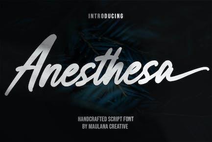 Anesthesa Handcrafted Script Font
