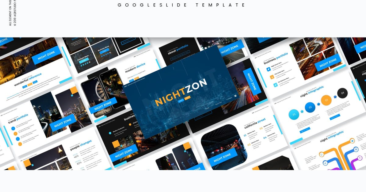 Download NightZon - Google Slides Template by aqrstudio