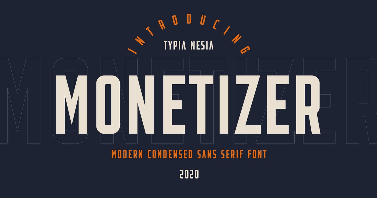 Download Monetizer - Condensed Sans by yipianesia
