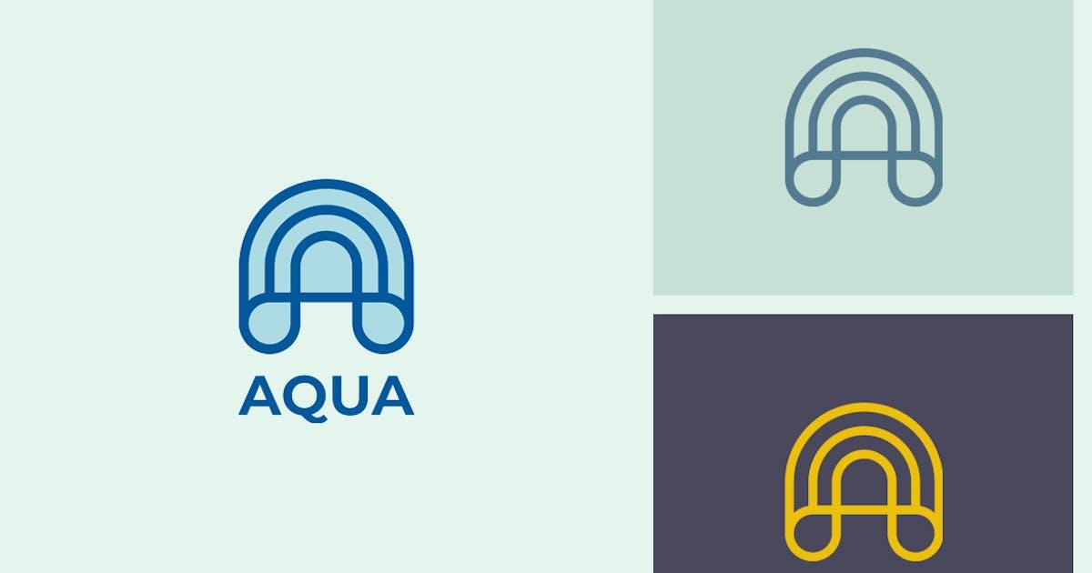 Download Aqua A Letter Logo by sagesmask