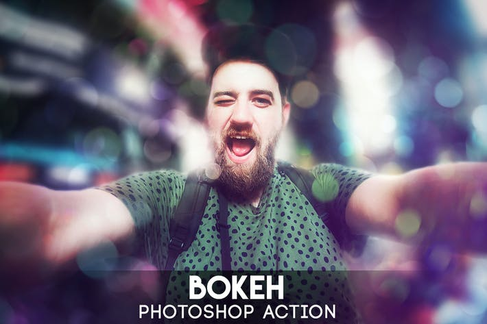 Thumbnail for Bokeh Photoshop Action