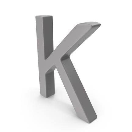 Letter K Grey