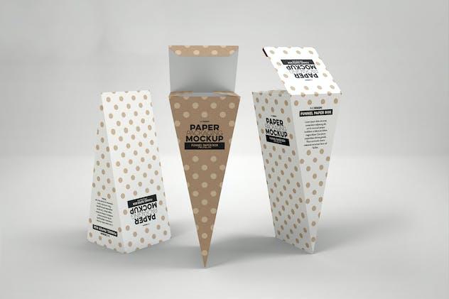 Funnel Paper Box Packaging Mockup