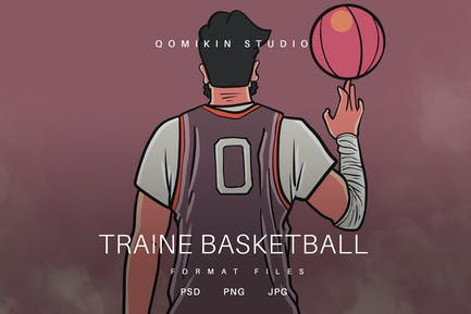 Traine Basketball-Illustration
