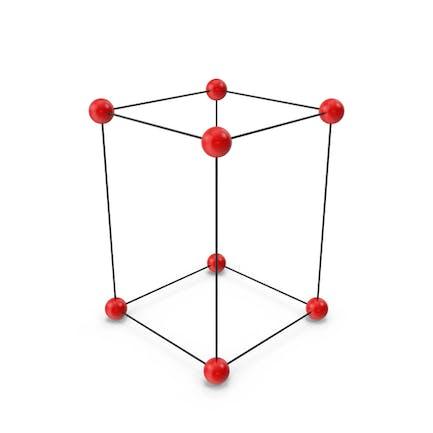 Einfache tetragonale Kristallgitterstruktur