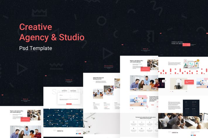 Thumbnail for Creative Agency - Company, Portfolio Psd Template