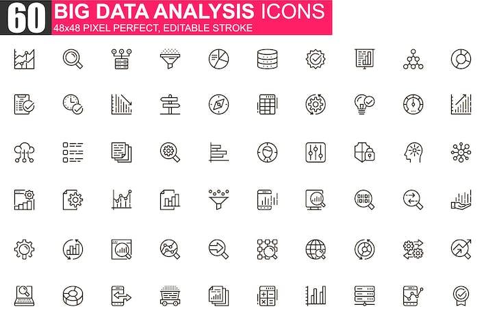Big-Data-Analyse Thin Line Icons Pack
