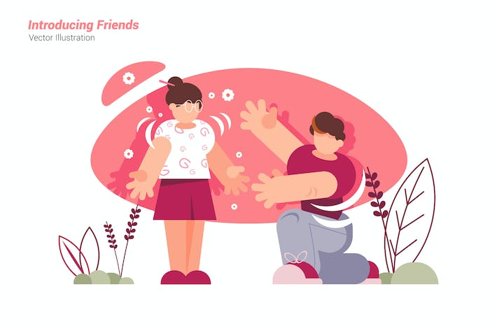 Thumbnail for Introducing Friends - Vector Illustration