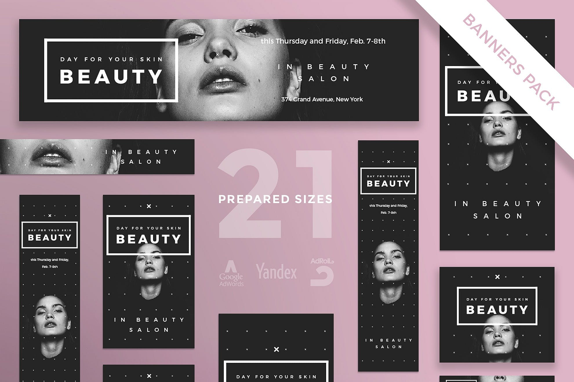 Beauty Salon Banner Pack Template By Ambergraphics On Envato Elements