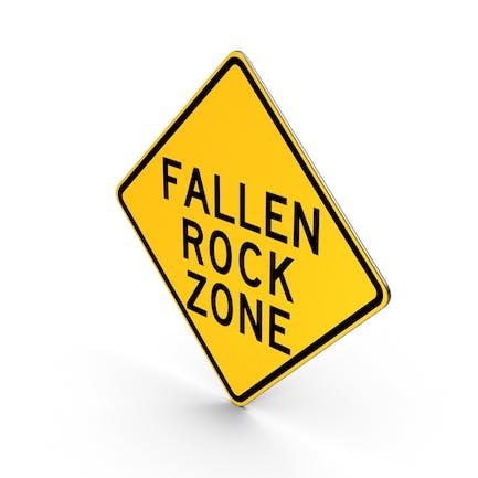 Fallende Felsen Straßenschild des Staates New York
