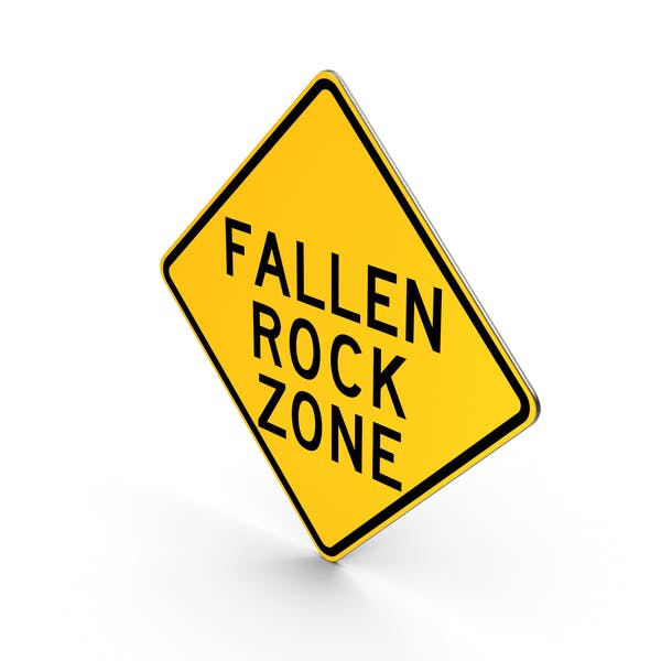 Falling Rocks New York State Road Sign