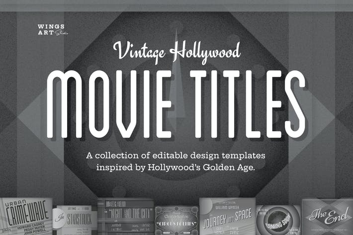 Vintage Hollywood Movie Titles