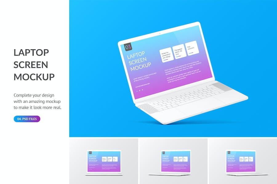 Unicolor Laptop Mockup