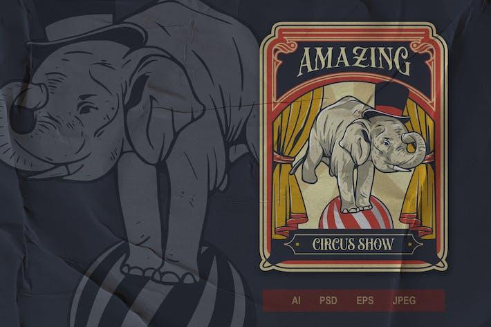 Thumbnail for Vintage Emblem - Circus V2