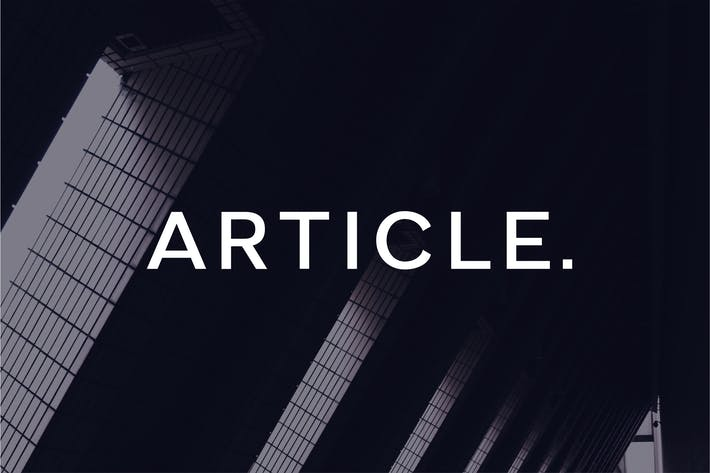 Cover Image For Article - A Geometric Typeface