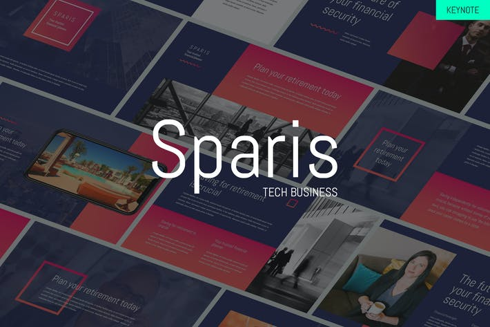 Thumbnail for Sparis - Tech Business Keynote Template