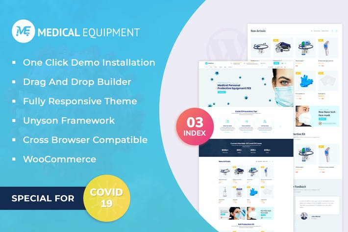 Thumbnail for Medical Equipment - eCommerce WordPress Theme